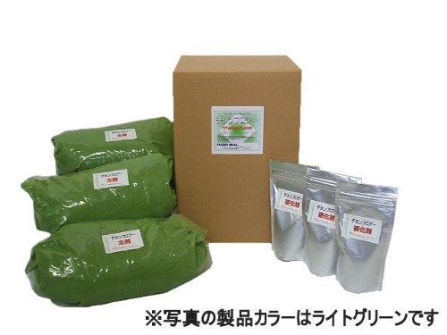フロアーシール チタンフロアー 15kg(5kg×3) ライトグリーン エポキシ樹脂 コンクリート仕上材