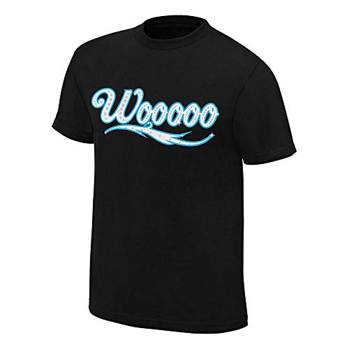 WWE AUTHENTIC WEAR Charlotte Flair Wooooo - Camiseta (Talla XL), Color Negro