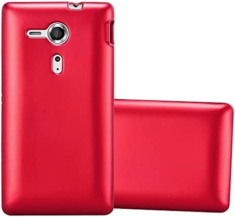 Cadorabo Case Compatible with Sony Xperia SP in Metallic RED Shockproof and Scratch Resistant product image
