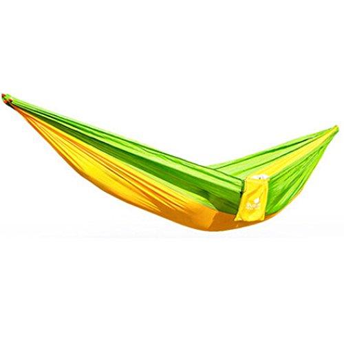 Multifonction Camping Hamac à suspendre Lit Double Taille [2.6 * * * * * * * * 1.3 m] Vert/Jaune