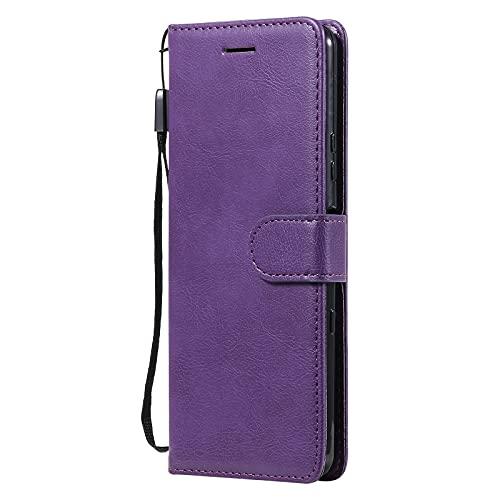 Handyhülle für Sony Xperia 10 III 6.0inch Hülle Leder Klapphülle mit Kartenfach Ständer Flip Case für Sony Xperia 10 III - DEKT210332 Violett