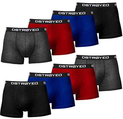 DSTROYED ® Boxershorts Men Herren 8er Pack Unterwäsche Unterhosen Männer Retroshorts 316 (XXL, 316f 8er Set Mehrfarbig)
