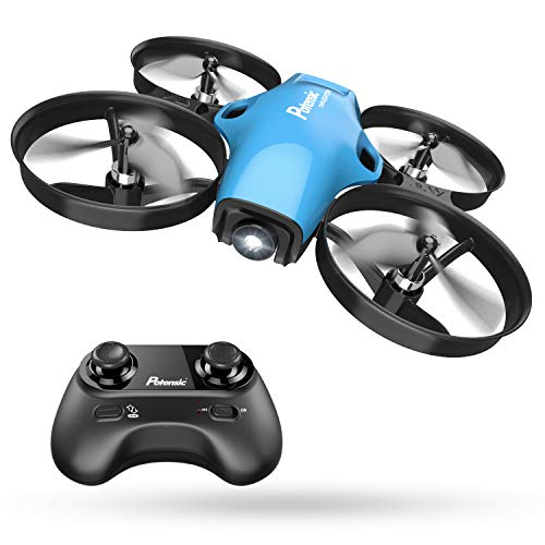 Potensic A30, Mini Drone for Kids, RC Quadcopter for Beginners, Headless Mode, Altitude Hold,Nano Helicopter, Portable Pocket, 3 Speed Adjustment, Easy Remote Return, Extra Blade, Auto Hovering, Blue