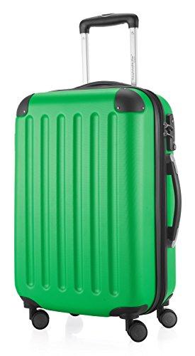 HAUPTSTADTKOFFER - Spree - Handgepäck Hartschalen-Koffer Trolley Rollkoffer Reisekoffer, TSA, 55 cm, 42 Liter, apfelgrün
