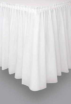 Unique Party - 50046 - Jupe de Table en Plastique - 4,2 m - Blanc