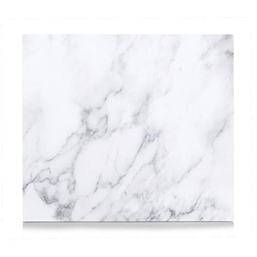 Zeller 26313 Herdblende-/Abdeckplatte Marmor, 56 x 50 x 1 cm, Glas