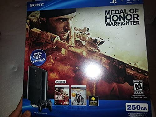 Hot Sale PS3 Slim 250GB Medal of Honor: Warfighter Bundle (PlayStation 3)