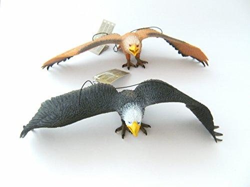 Adler Hartgummi 2erSet je 33 cm neu Weißkopfseeadler Vogel Vögel Greifvögel Tiere Spielen