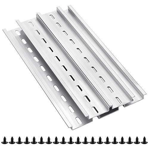 SNAGAROG 5 Stück DIN-Schienen Aluminiumschienen Montageschienen,für Elektrische Geräte Verteilerschrank Schaltschrank Einbau (Länge 200 mm, Breite 35 mm, Höhe 7,5 mm)