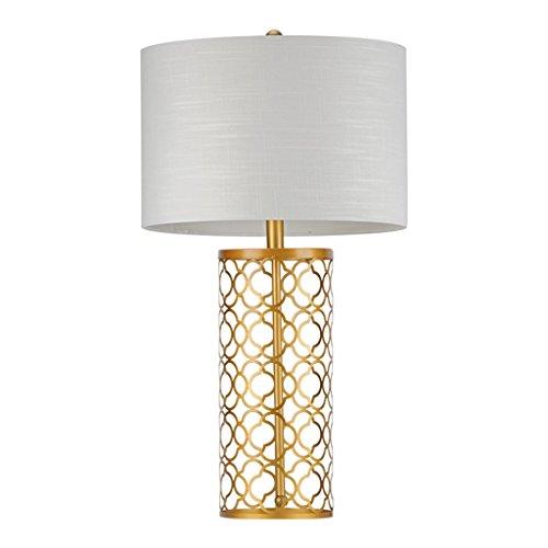 LiuQ Indoor moderne ijzeren handwerk gouden tafellamp, doek schaduw woonkamer slaapkamer high-end bedlampje