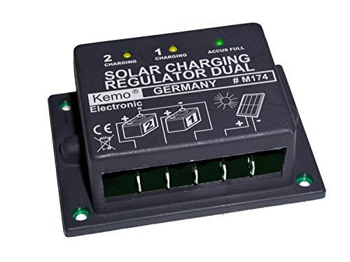 Regulador de carga para panel solar y 1 o 2 baterías 12 V 16 A
