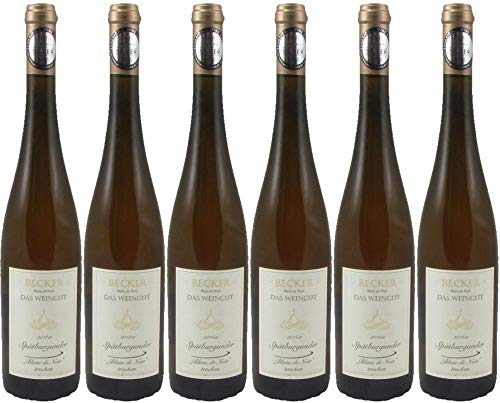 6x Spätburgunder Blanc de Noir 2017 - Becker - Das Weingut, Rheinhessen - Weißwein