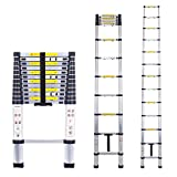 Telescopic Ladder Multi-Purpose Aluminium Telescoping Ladder Extension Extend Portable Ladder Foldable Ladder EN131