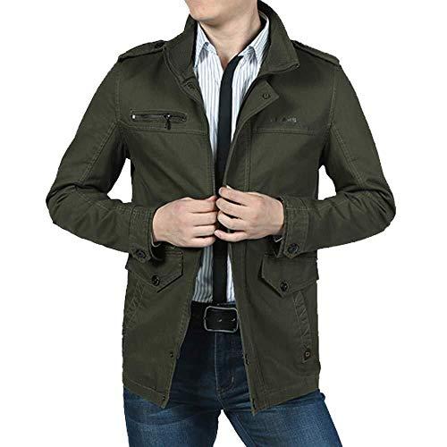 Herren Sakko Untersetzt Comfort Sweat Fit Festlich Bekleidung Größe Über Blazer Zweiknopf Jackett Anzug Lang Größe Bequem Spezial Größe (Color : Armeegrün, Size : 2XL)