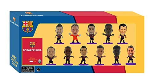 Soccerstarz FCBTP19 Barcelona Team Pack (2018/19 Version)/Figuras, Color Morado, 5 cm