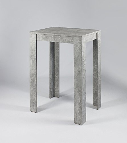 HOMEXPERTS Bar-Tisch NIKA / Edler Steh-Tresen 100 cm Höhe / Küchen-Beistelltisch in grauer Beton -Optik / Bartresen / Küchen-Tisch / 80 x 104 x 60cm (BxHxT)