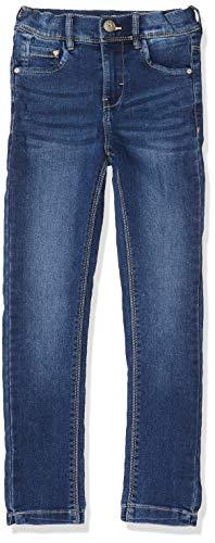 NAME IT Mädchen NKFPOLLY DNMCILLE 2198 HW Pant Camp Jeans, Blau (Medium Blue Denim), 134