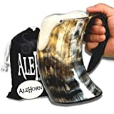 AleHorn 600ml (20 once) Handcrafted Extra Large vichingo coppa Horn Tankard