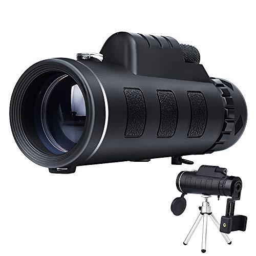 Telescopio monocular mreechan, Prisma monocular de Alta Potencia con Adaptador y trípode para teléfono Inteligente, Adecuado para observación de Aves, Senderismo, Juegos de fútbol, etc.