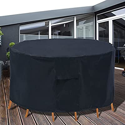 PATIOPTION Patio Furniture Covers, 600D 82'...