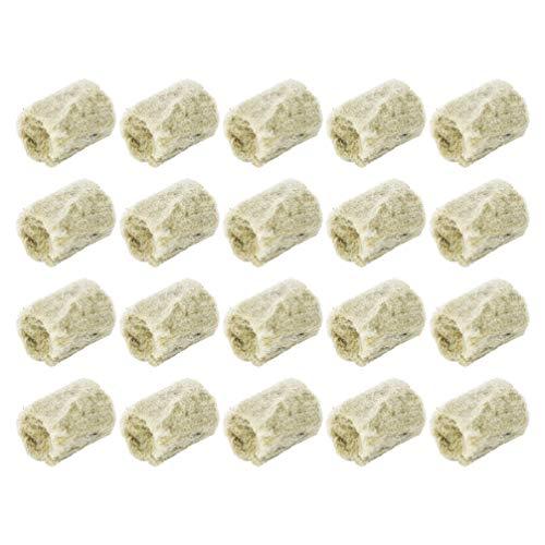 Cabilock Lot de 40 bouchons en laine de roche - Pour l'agriculture - Culture cylindrique - Hydroponie