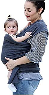 Easy Wearing Baby Wrap Ergo Carrier Slings, Extra Soft, Easy Wearing and Carrying, Best Baby Shower Gift (Dark Grey)
