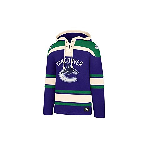 '47 Brand Vancouver Canucks Lacer Jersey Hoodie NHL Sweatshirt, L