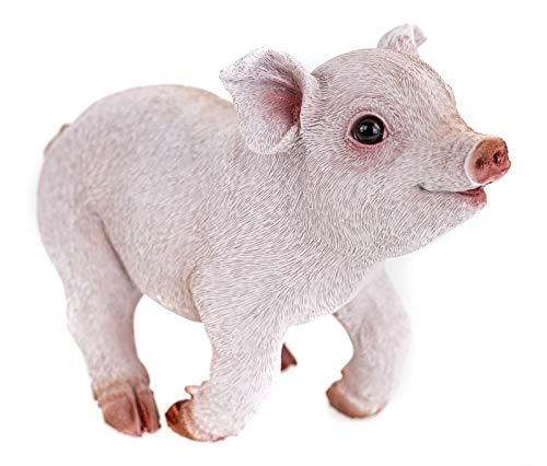 Farmwood Schweinchen rennend Gartenfigur 20 cm Figur Skulptur Garten Schwein