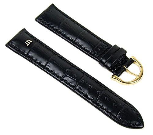 Maurice Lacroix Uhrenarmband Leder Krokooptik schwarz 20mm 18270G