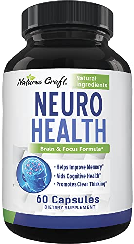 Nootropics Brain Supplement Support - Memory Booster for Mind Focus Reduce Anxiety - DMAE Pills for Concentration Improve Brain Function, Neuro & IQ with Bacopa Monnieri L-Glutamine for Men and Women