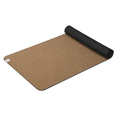 Gaiam Yoga Mat Cork with Non-Toxic Rubber Backing, Natural Sustainable Cork Resists Germs and Odor - Great for Hot Yoga, Pilates (68-Inch x 24-Inch x 5mm Thick)