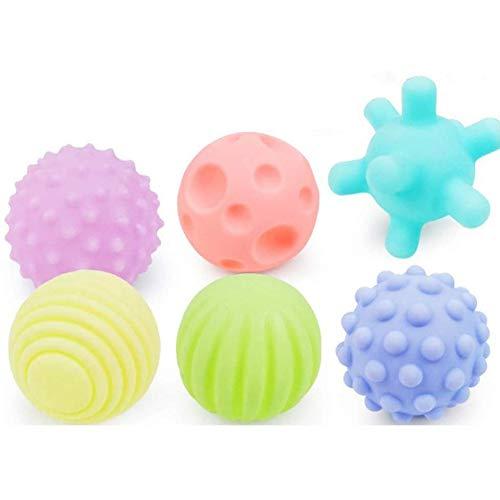 6pcs bébé texturé Boule Multi Multi-Touch texturé Sens Toucher Formation Balle Jouet Cadeau pour Les Enfants,Natural