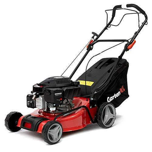 GartenXL Cortacésped de gasolina 16R-127-M3, autopropulsado, 40 cm, cortacésped de gasolina con tracción a ruedas, para...