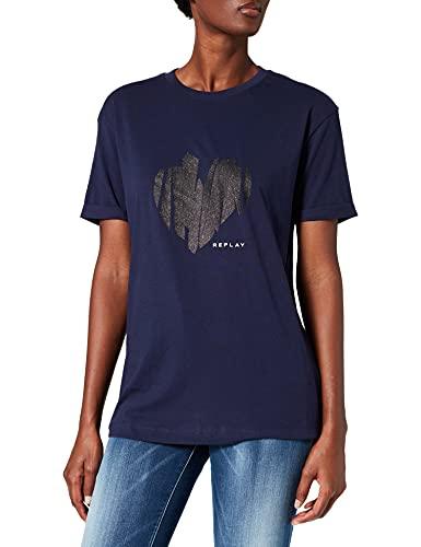 REPLAY W3506 Camiseta, 173, M para Mujer