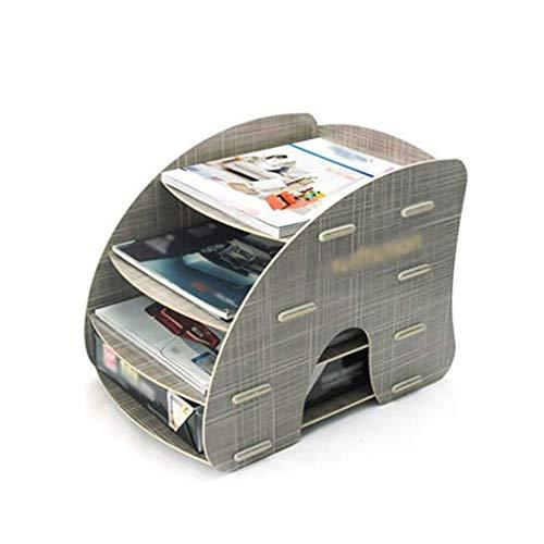 Revistero archivador 4-Tier Organizador de Escritorio Mini Escritorio Titular del Archivo Bandeja de Almacenamiento for el Archivo de diseño de Cuentas en casa o la Oficina Clasificadores Carpetas
