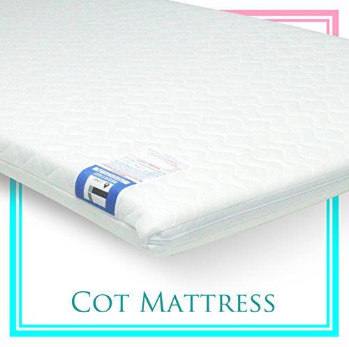 Fits Most Graco//M/&P Toddler Cots Waterproof Cover Breathable Gax New Baby Travel Cot Foam//Mattress Extra Thick Quilted Anti allergenic 93 x 64 x 6 cm