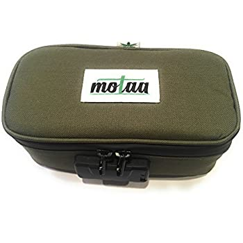 Stash Case MOTAA Smell Proof case w/Combo Lock with Activated Carbon mesh Material, Includes a Bonus Incense Spoon (Military Green) (Military Green)