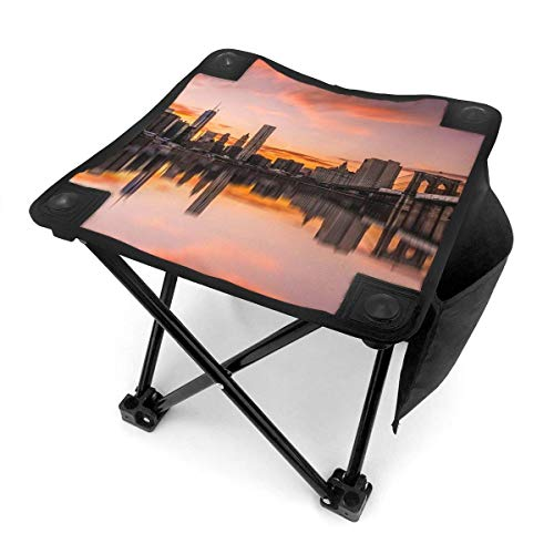 End Nazi Camping Hocker Klappstühle New York City Sunset Tragbarer Stuhl Sitz