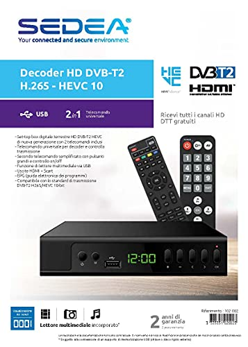 Receptor Digital Terreste HD DVB-T2 H.265 - HEVC 10