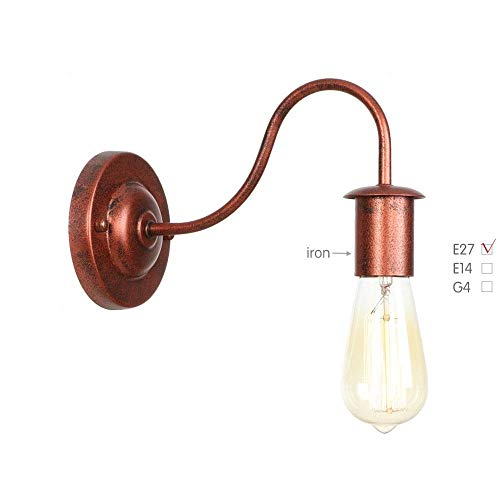Wandlamp, lange mouwen, rustiek, retro-stijl, LED, wandlamp, slaapkamer, woonkamer, loft, industriële vintage Edison