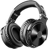 OneOdio Auricurales Bluetooth Inalámbricos 80H, Auriculares HiFi de 50mm Altavoz con Micrófono CVC 8.0, Auriculares de Audio con Cable para Móvil PC Portátil, Orejeras Proteicas 90° Ajustable para DJ