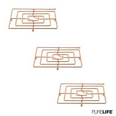 Trivet Set for Hot Dishes or Teapot | Double Coated Copper Finish Kitchen Accessories for Tables - Modern Collection for Table Decor