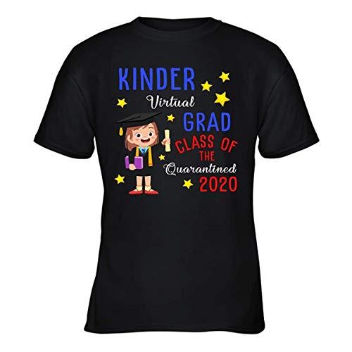 Neuheit Jugend Shirt Kinder Virtual Grad Class of The Quarantined 2020 Tees lustiges Sommer Geschenk T-Shirt Gr. 60, Schwarz