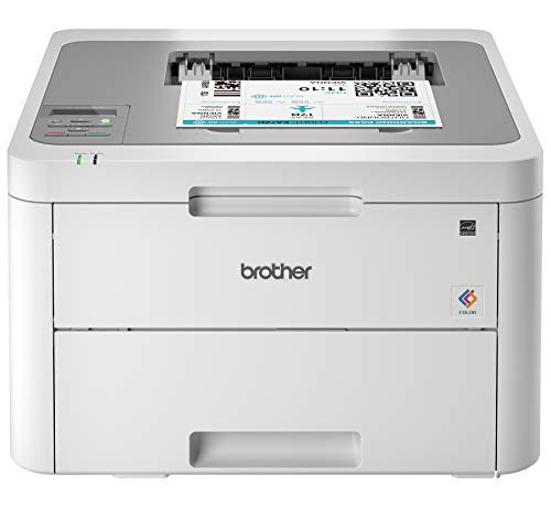 Brother HL-L3210CW Compact Digital Color Printer Providing Laser Printer Quality Results with Wireless, Amazon Dash Replenishment Enabled, White
