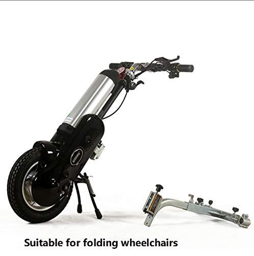 """ZYT Elektrisch Aufsteckbar Handcycle Rollstuhl,36V 400W Rollstuhl Handbike Mit 12""""Luftreifen, 20Km / H Geschwindigkeit Mit LED-Licht, Vorwärts/Rückwärts Für Klapprollstuhl,Sport-Rollstuhll,B"""