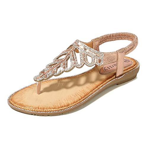 Scarpe col Tacco Donna Moda Sandali con Zeppa Plateau Wedge High Heels (07B-Pink,41)
