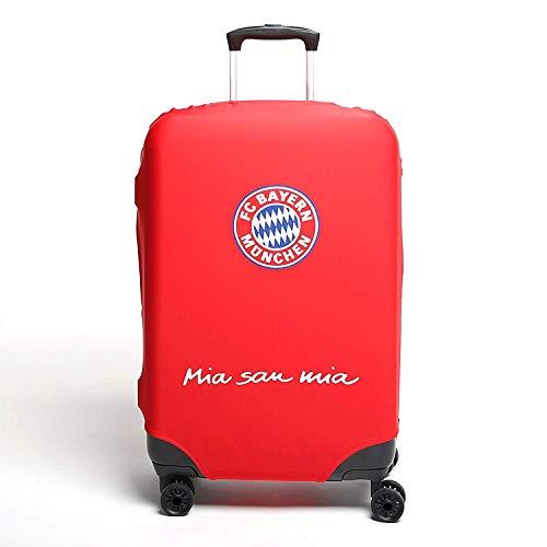 Merch - Custodia per valigia 'FC Bayern München', 68 cm, colore: Rosso con logo