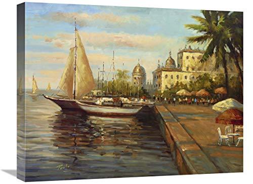Global Gallery Santo Domingo Harbor-Canvas Art 61 cm x 51 cm