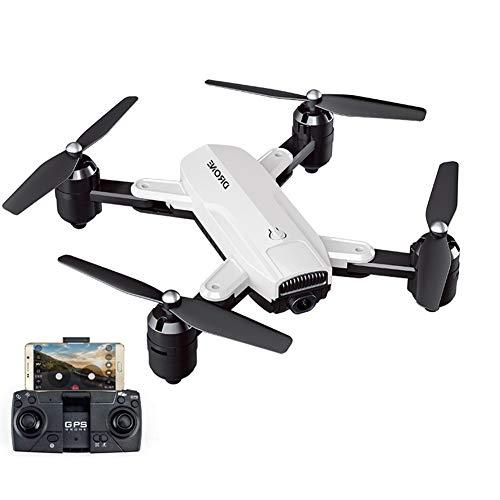 Mini Drone RC WiFi FPV 3D Flips Cámara 4K HD Camara Selfie Drone Quadcopter Altitude Hold G-Sensor para Principiantes Niños,White