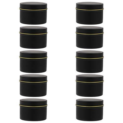 YARNOW Lata de Vela Pequeña con Tapa 10 Unidades de Cajas de Hojalata de Almacenamiento de Velas Redondas Lata de Tornillo Vacío para Guardar Joyas de Dulces de Vela ()